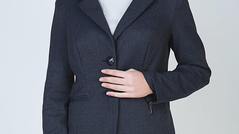 Button Blazer With Zip Detail