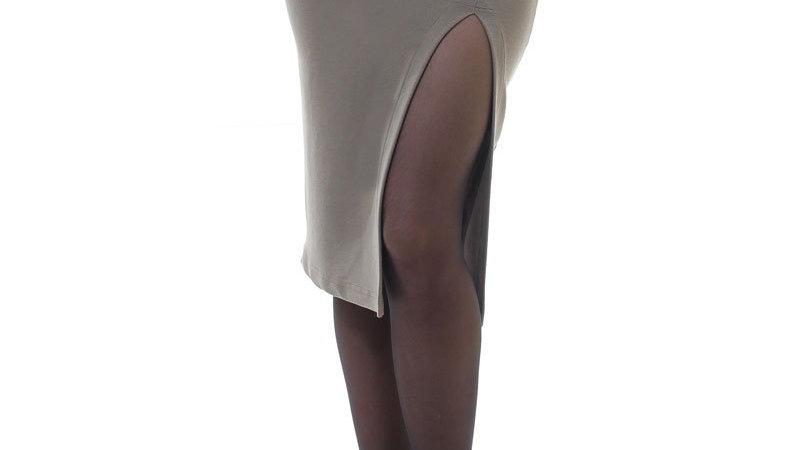 Slit Stretch Midi Skirt