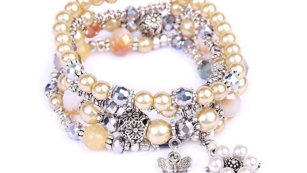 Butterfly Pearl Classy Stackable Bracelet
