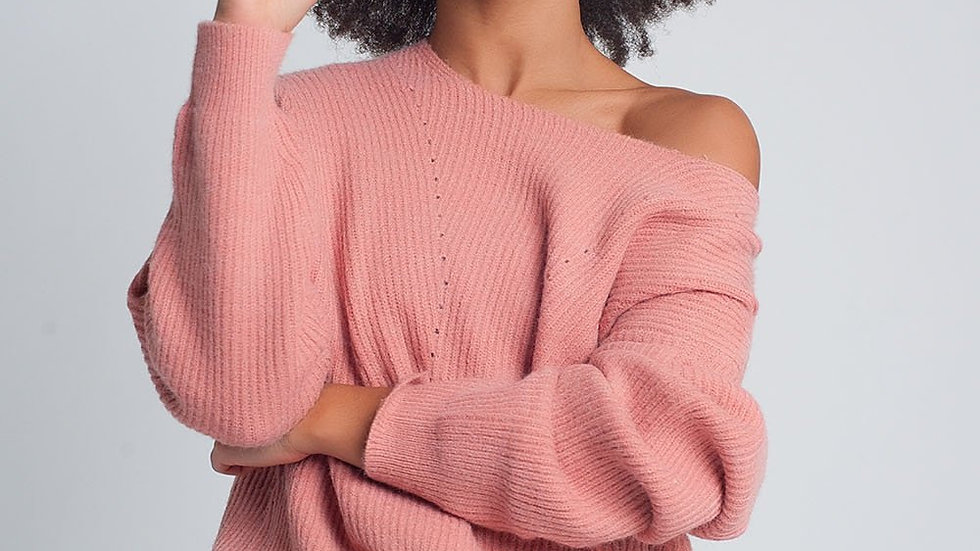 Textured Sweater in Pink