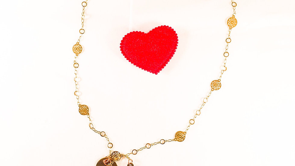 Triple Heart Charms Necklace