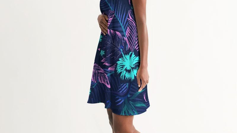 Women's Floral Veronica Casual Halter Dress