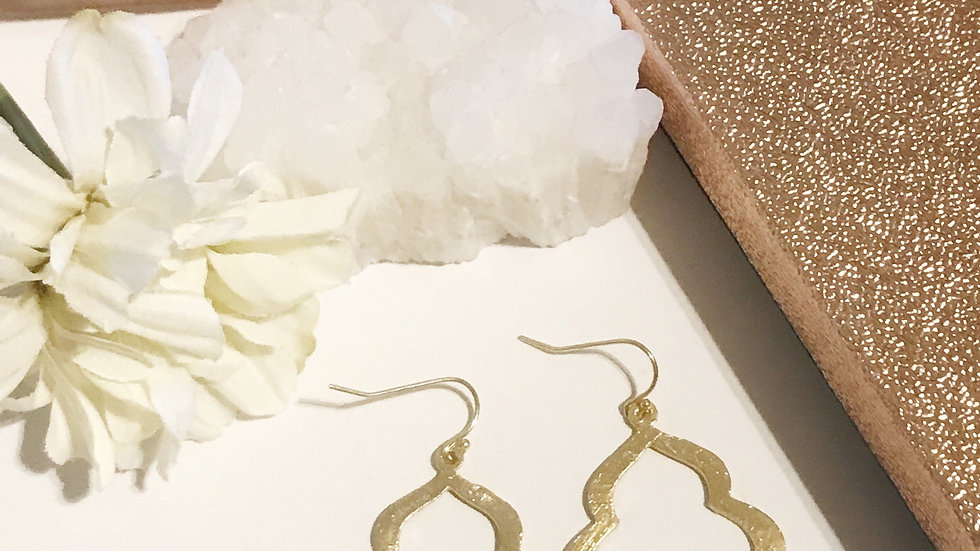 Small Brushed Gold Earrings