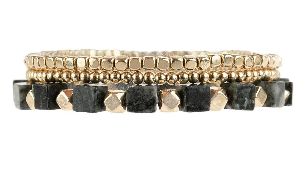 Natural Stone Mix Charm Bracelet