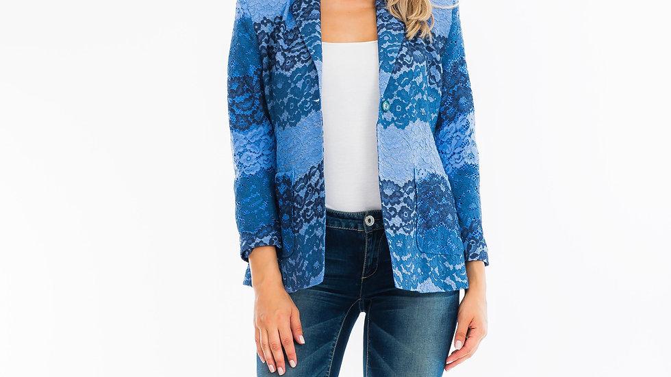 Ocean Blue Floral Blazer