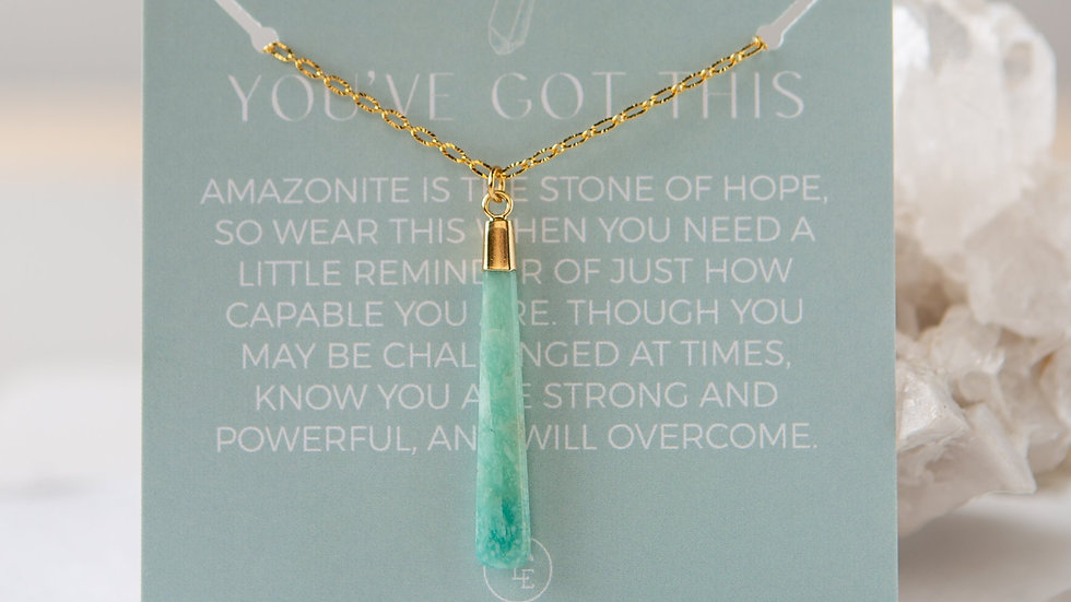 Gemstone Pendant Necklace-Agate