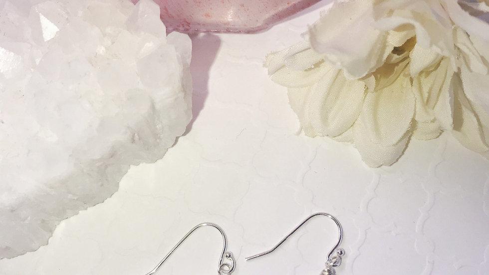 Blue Faceted Crystal Earrings