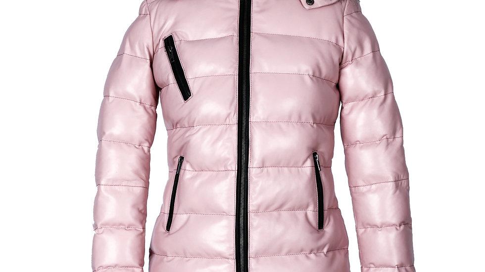 Puffer Jacket With Hood Fur Collar