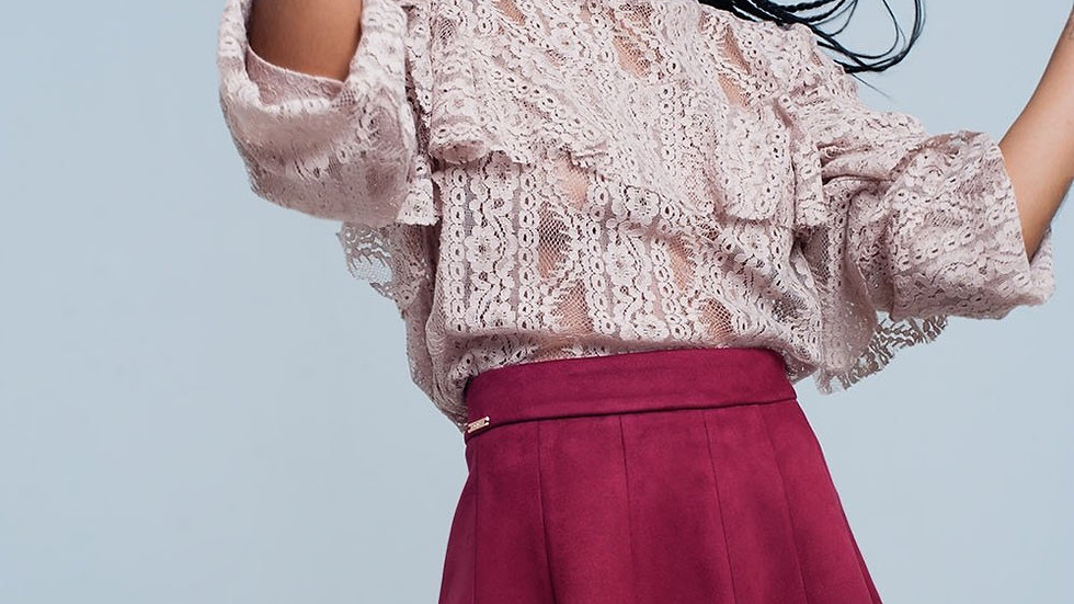 Beige Lacy Blouse and Ruffles