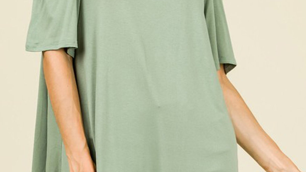 Short Sleeve Cold-Shoulder Top