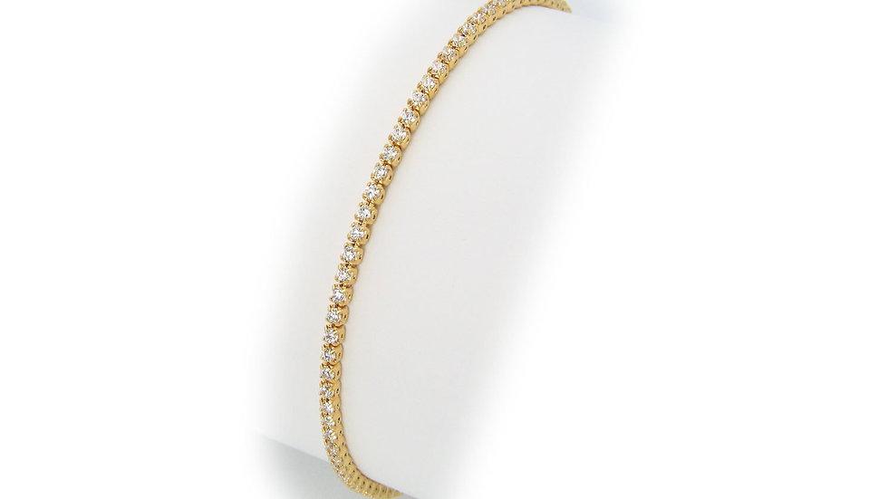 Slender Cz Tennis Bracelet