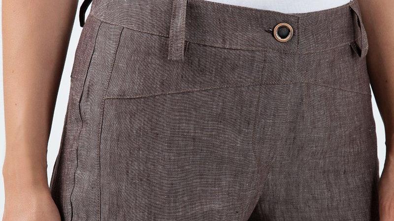 Long Straight Linen Pants