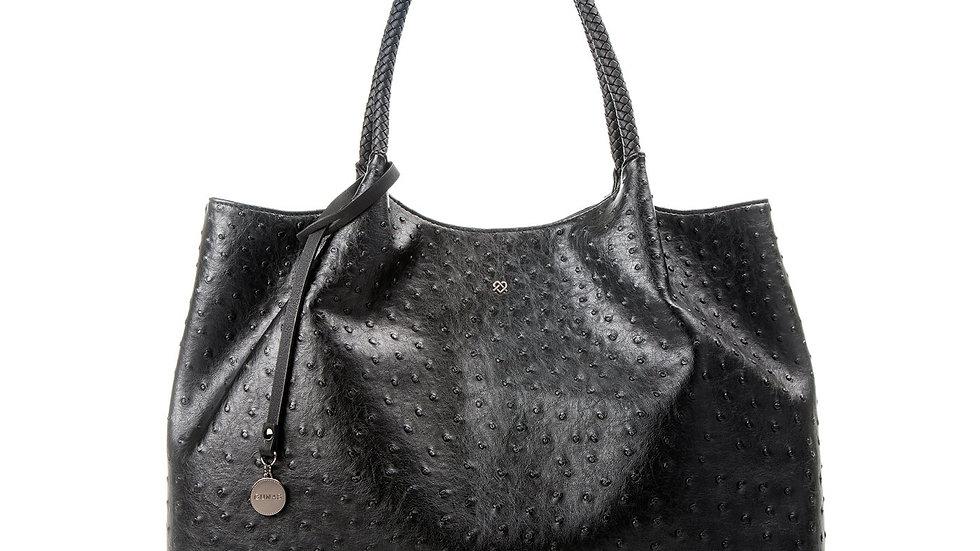 Naomi - Black Vegan Leather Tote Bag