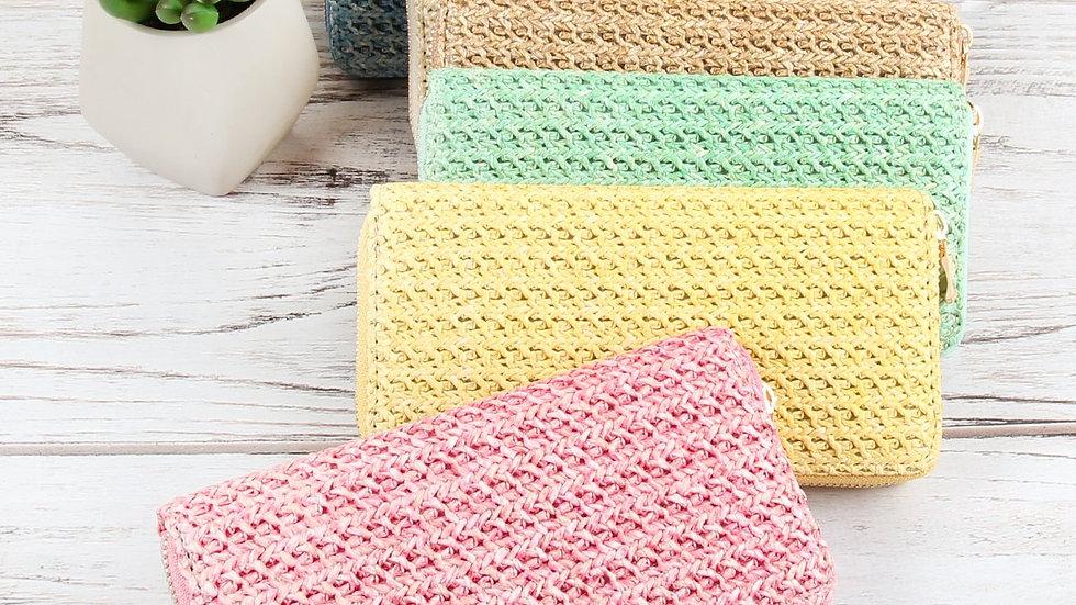Crocheted Single Zipper Wallet