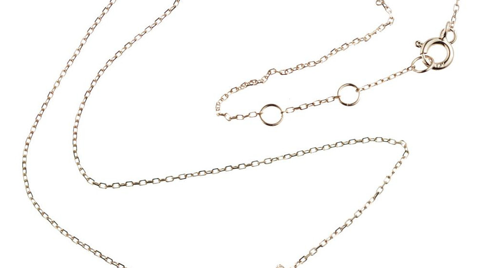 Rose Gold Choker Necklace With Moon & Star Stone Pendants