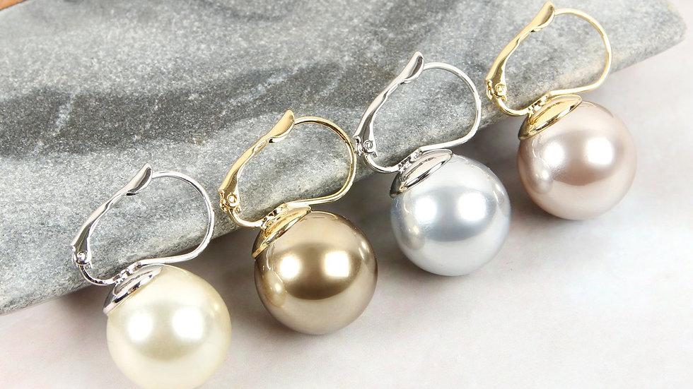 Hinged Pearl Earrings