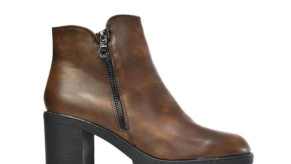 The Block Heel Brown