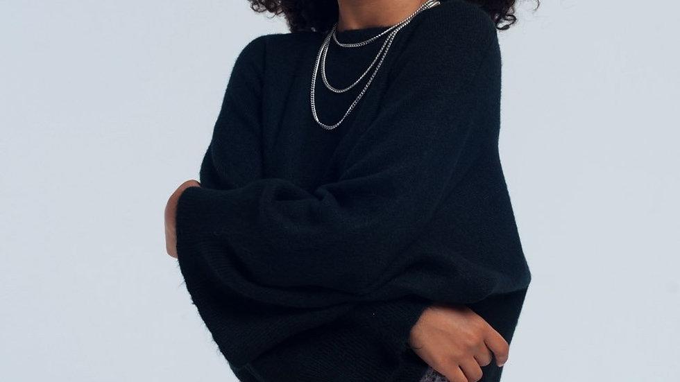 Black Short Sweater
