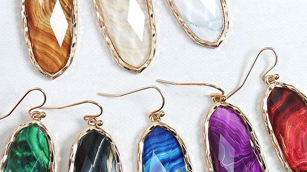 Printed Epoxy Earrings