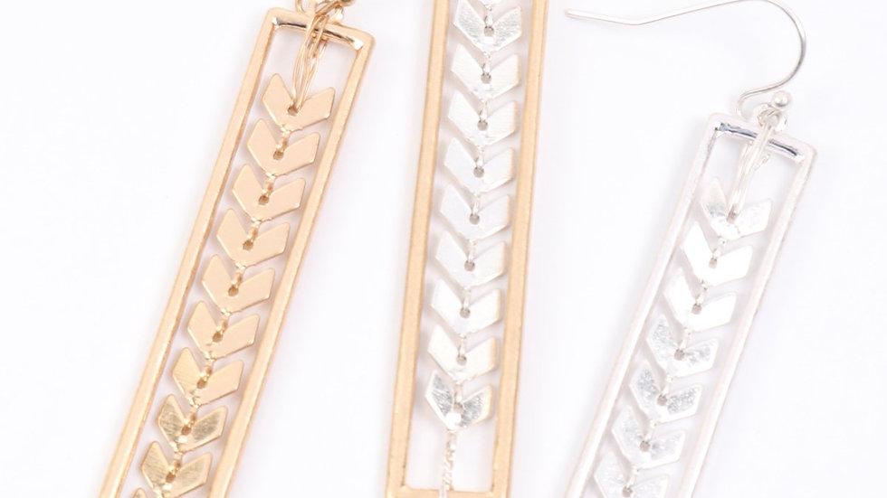 Arrowhead Chain Earrings