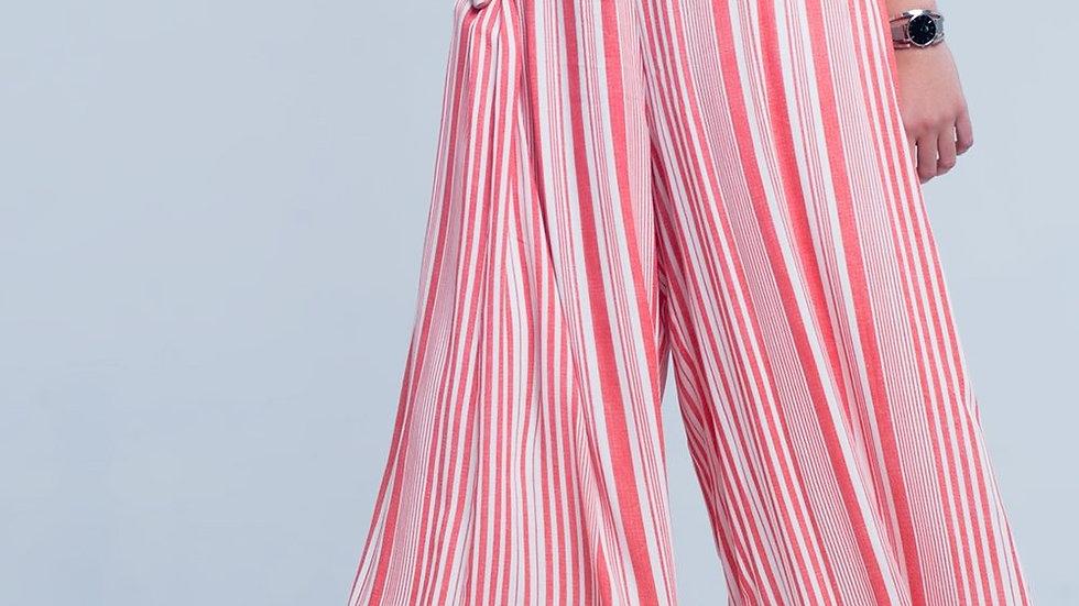 Culottes in Orange Stripe