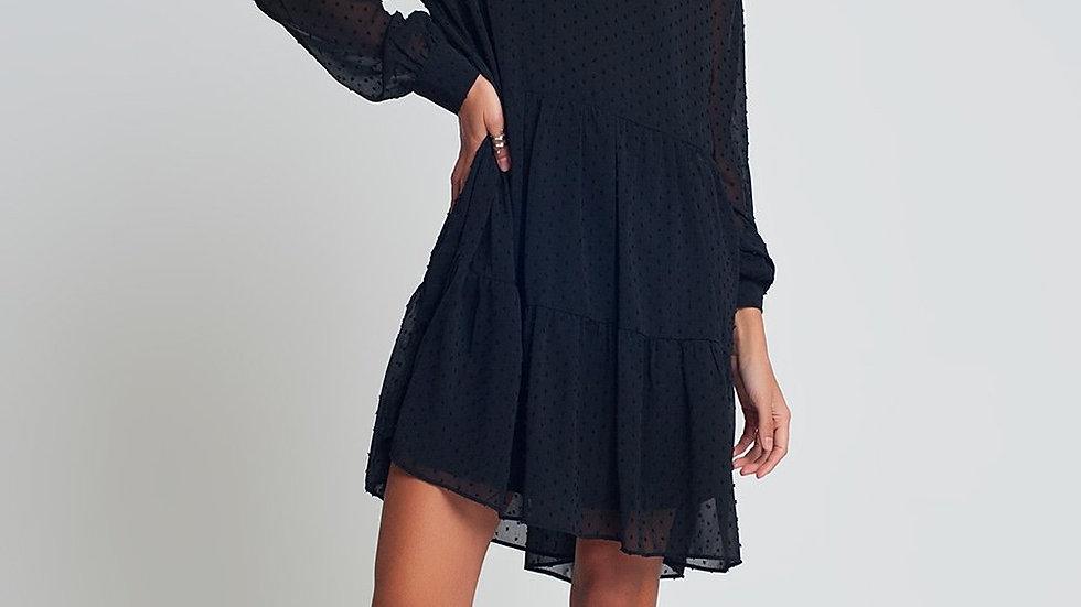 Smocked Chiffon Mini Dress