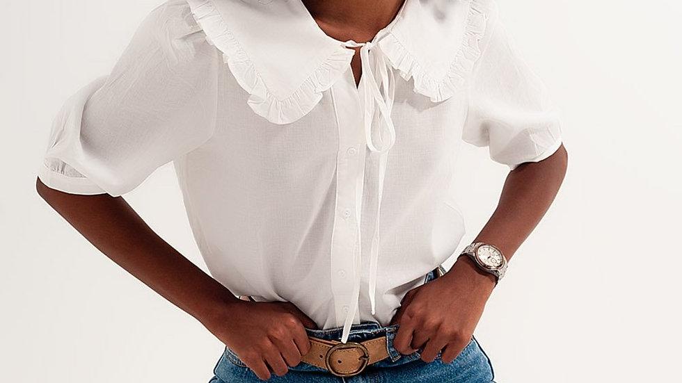 Prairie Collar Blouse in White