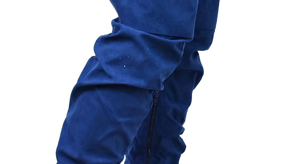 Navy Over the Knee Boots