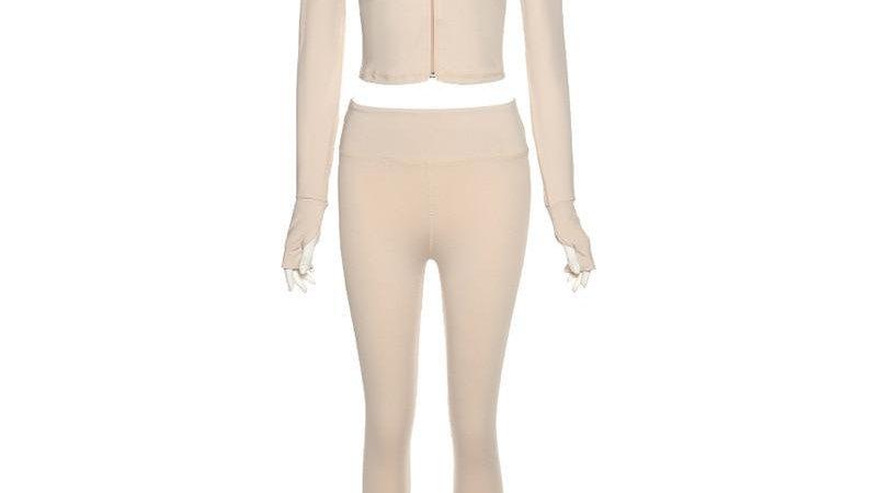Long Sleeve Tracksuit Sport Set Women Sportswear