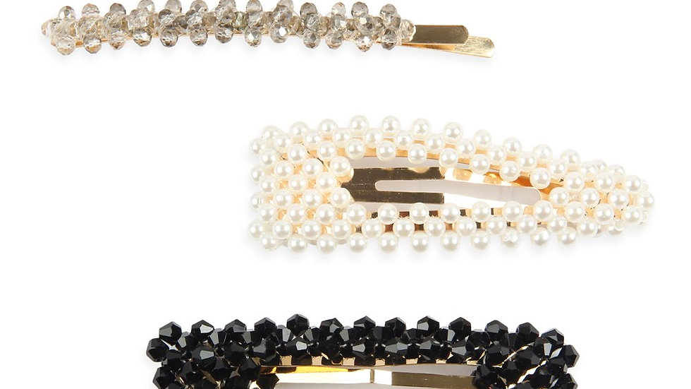 Glass Beads and Pearl Hair Pin Set