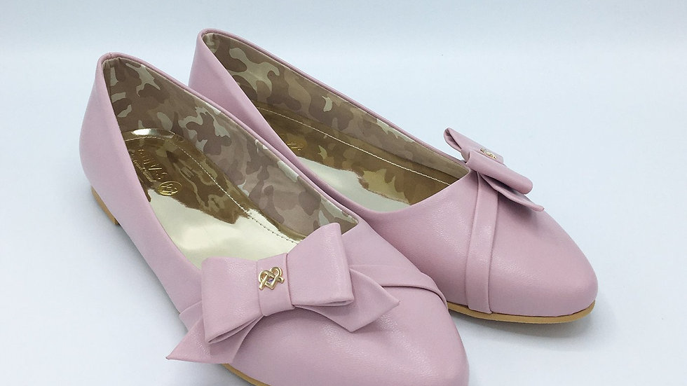 Swan - Pink Vegan Leather Shoes