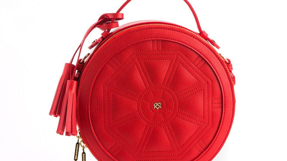 Rotunda - Red Vegan Crossbody Bag