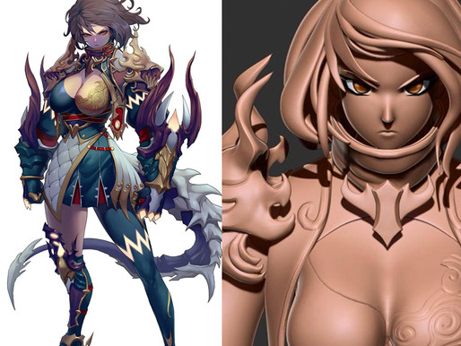 Concept Art to 3D Game Character