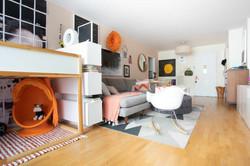 HARLEM HOME TOUR - Living Room - View of front door