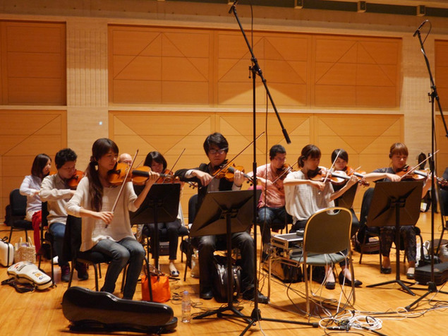 "Recording session for TV animation ""Kyo kara MAO"""