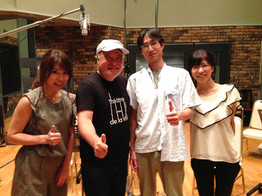 "Recording session for TV animation ""Vivid Strike"""