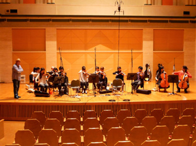 Strings Recording at Saitama art hall
