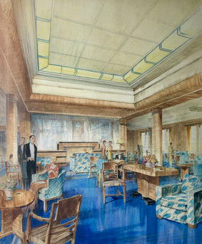 TSS Strathmore - First Class Lounge