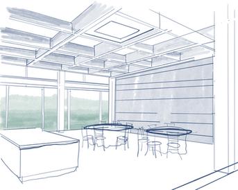 Community Hub internal break out space.