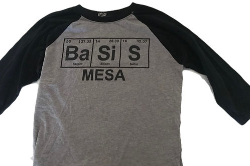 BASIS Cotton Baseball 3/4 length sleeve T-Shirt