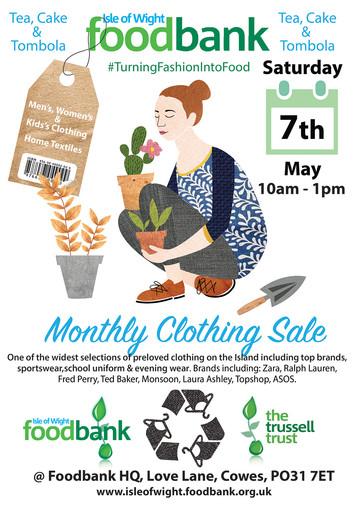 Foodbank Clothing Sale Poster May 2016