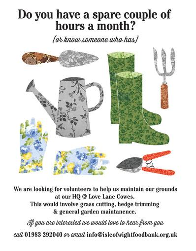 Foodbank Gardener Appeal