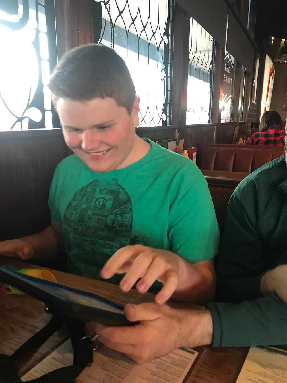 Ryan orders what he wants to eat at a Northland Restaurant