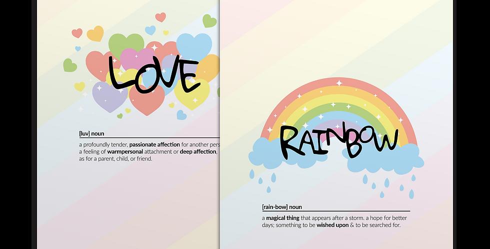 Rainbow+Love מארז פוסטרים