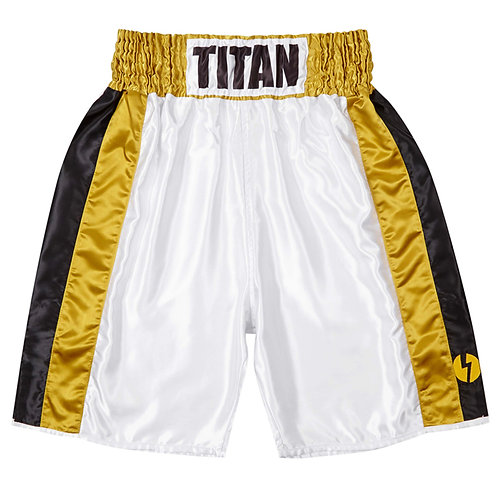Ring Shorts - Polar White w/ black & gold