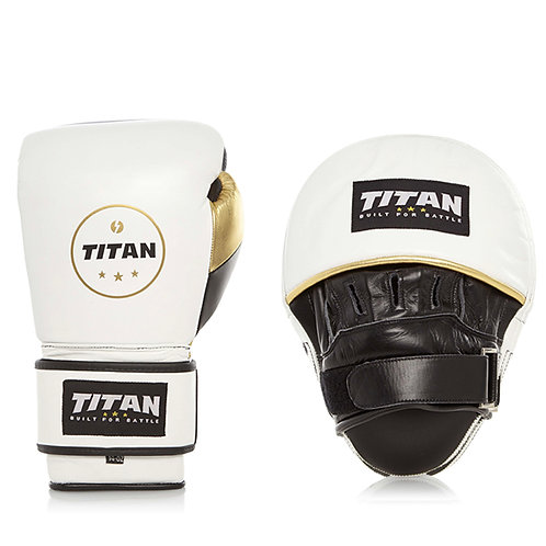 Training Set – Velocity Gloves & Drill Pads, Polar White w/ Black & Gold