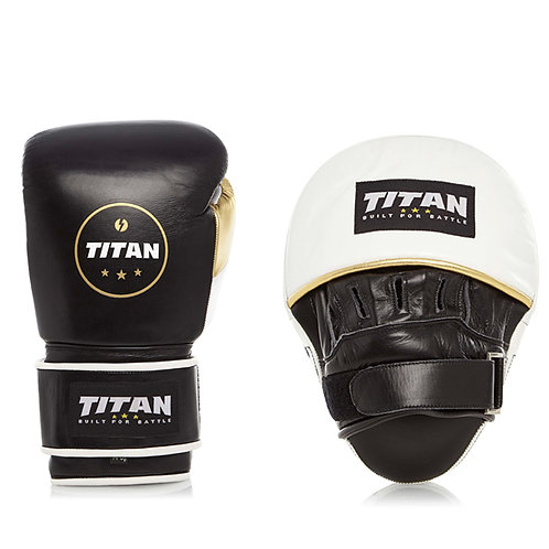 Training Set – Velocity Gloves & Drill Pads, Midnight Black w/ White & Gold