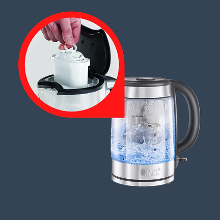 integrated filter kettle brita for hard water