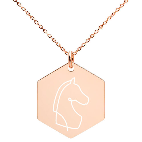 Engraved Hexagon Necklace