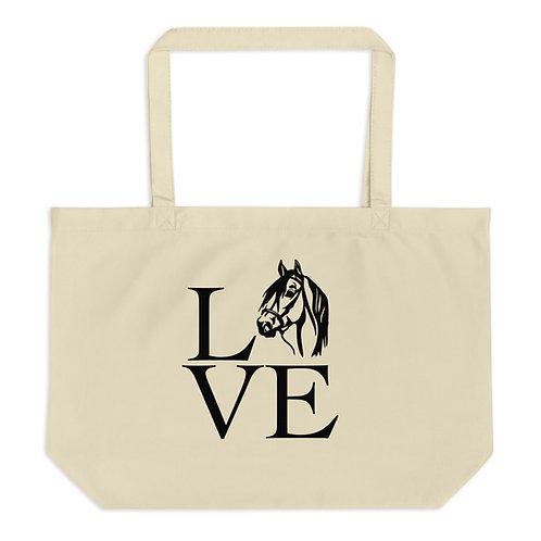 Horse Love Organic Tote Bag